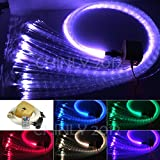 16W Remote RGBW Twinkle sparkle fiber optic decoration 300pcs 1.0mm flash point 9.8ft waterfall sensory light kit