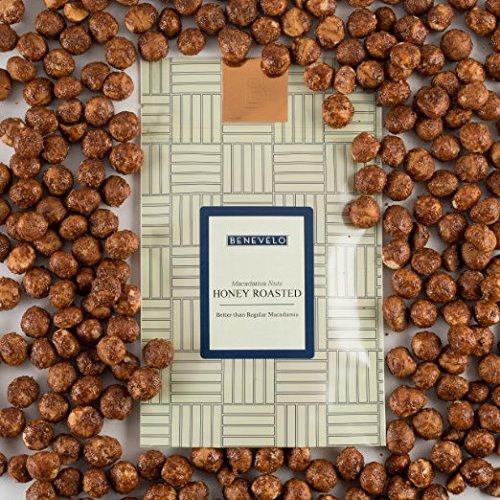 Benevelo Gifts - Hawaiianische Macadamia-Nüsse im wiederverschließbaren Beutel - geröstet & mit delikatem Honig-Überzug - reich an Nährstoffen - koscher - 500 g