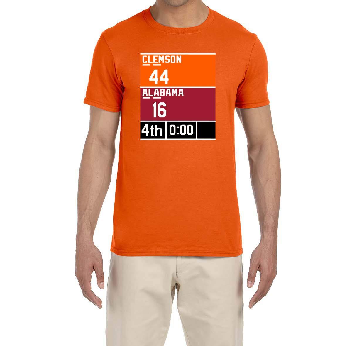 Orange Clemson Championship Scoreboard T Shirt 3153
