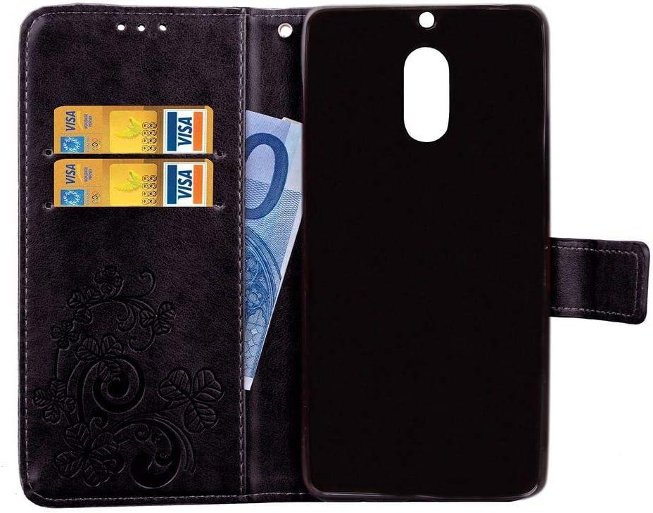 JEEXIA/® /Étui pour Nokia Lumia 925 Haute Qualit/é Retro PU Premium Flip Wallet avec Stent Function avec Credit Card Slot Tr/èfle /à Quatre Feuilles Brown