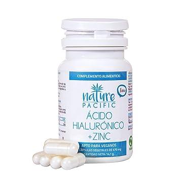 Acido Hialuronico, Zinc, antioxidante natural, hidratación para la piel, reduce arrugas y