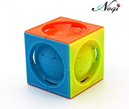 Negi LimCube Deformed 3x3x3 Centrosphere Stickerless Cube Puzzle - Twist Cube Puzzles, Smart Brain Teaser Toy Game for Kids Gifts (LIM Cube)