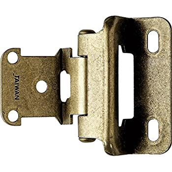 Partial Wrap 1 4 Quot Overlay Hinges Antique Brass Pair Cabinet And Furniture Hinges Amazon Com