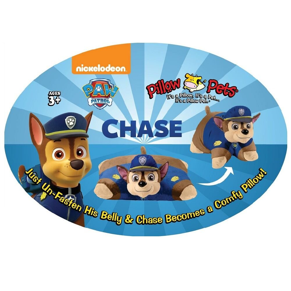 Pillow Pets Nickelodeon Paw Patrol, Chase Police Dog, 16'' Stuffed Animal Plush Toy by Pillow Pets (Image #5)