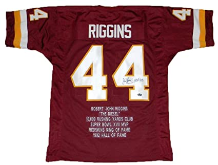 Discount John Riggins Autographed Jersey #44 Stat W Hof 92 Autographed  for sale