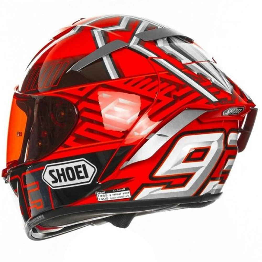 Amazon.com: Shoei X-Spirit 3 Marquez 4 TC-1 Full Face Motorcycle Helmet: Automotive