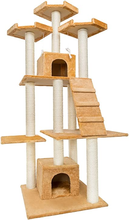 TecTake Rascador XXL para Gatos Árbol para Gatos Sisal Juguetes 208cm: Amazon.es: Hogar