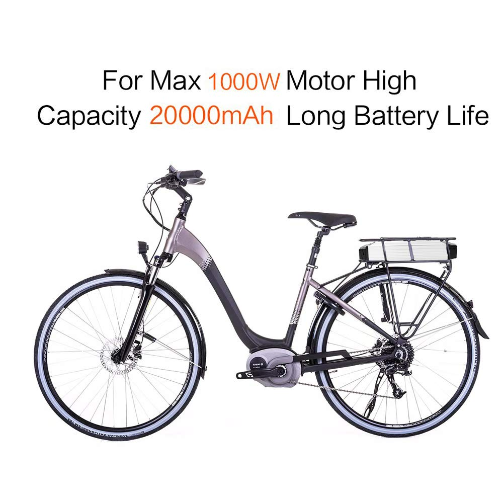 X-go Ebike Battery 48V 20AH 10AH 36V 10AH Lithium Li-ion Battery with Charger and BMS Protection Board, E-Bike Battery for 250W 350W 500W 700W 1000W Motor