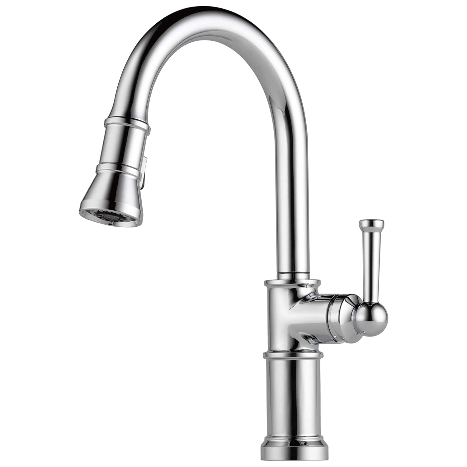 Brizo 63025LF-PC – Artesso Single Handle Pull-Down Kitchen Faucet – Chrome Finish