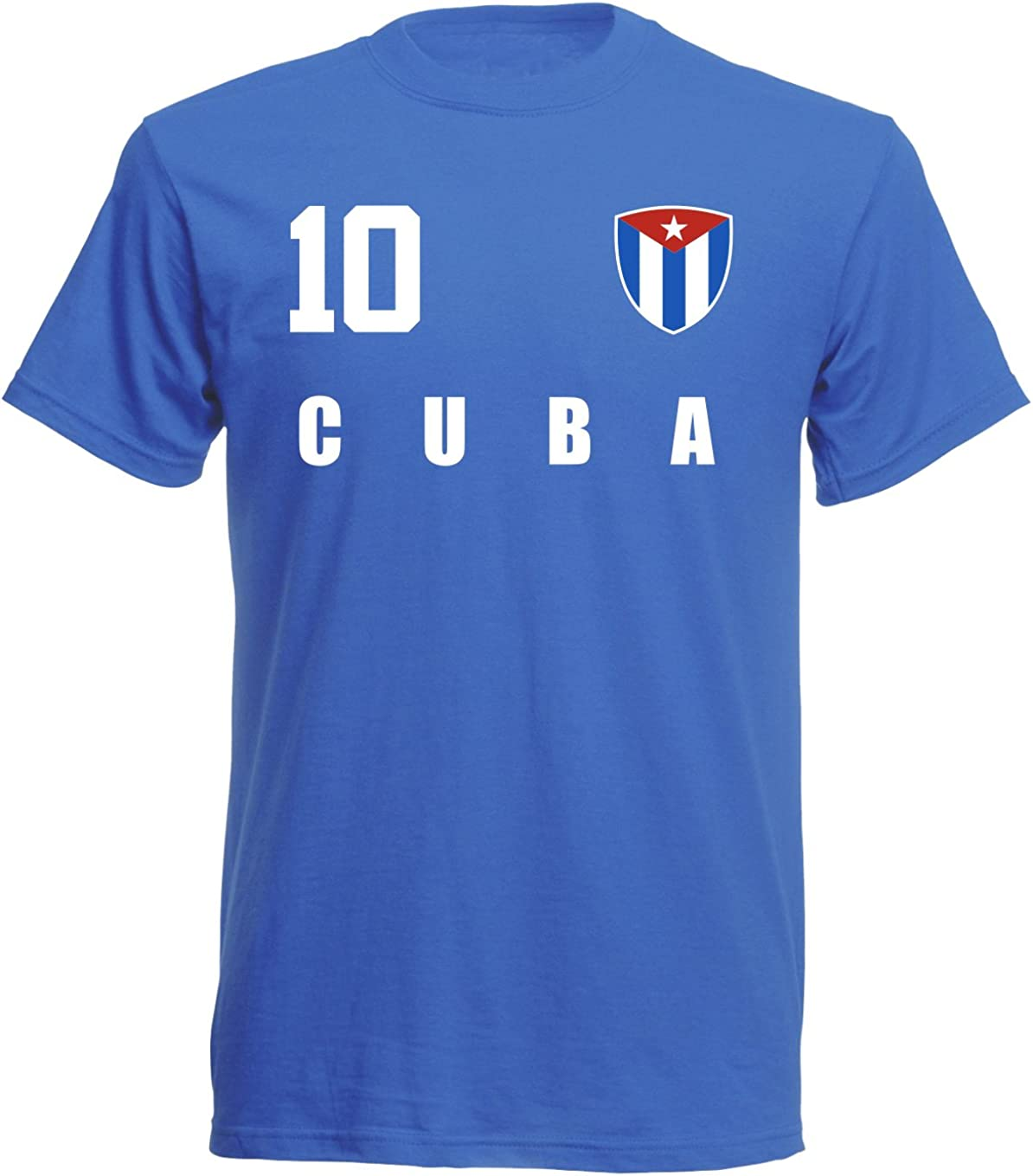 Aprom-Sports Camiseta de la selección Mundial de fútbol de Kuba 2018, Estilo Camiseta – Azul ALL-10 – S, M, L, XL, XXL: Amazon.es: Ropa y accesorios