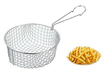 AQS 21 cm Kitchen Craft - de profundidad verduras Chip Freidora de acero inoxidable malla de alambre Cesta: Amazon.es: Hogar