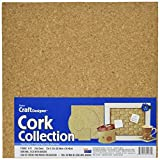 Darice Cork Collection Adhesive Wall Tile, 12-Inch by 12-Inch by 5mm, 4/Pkg