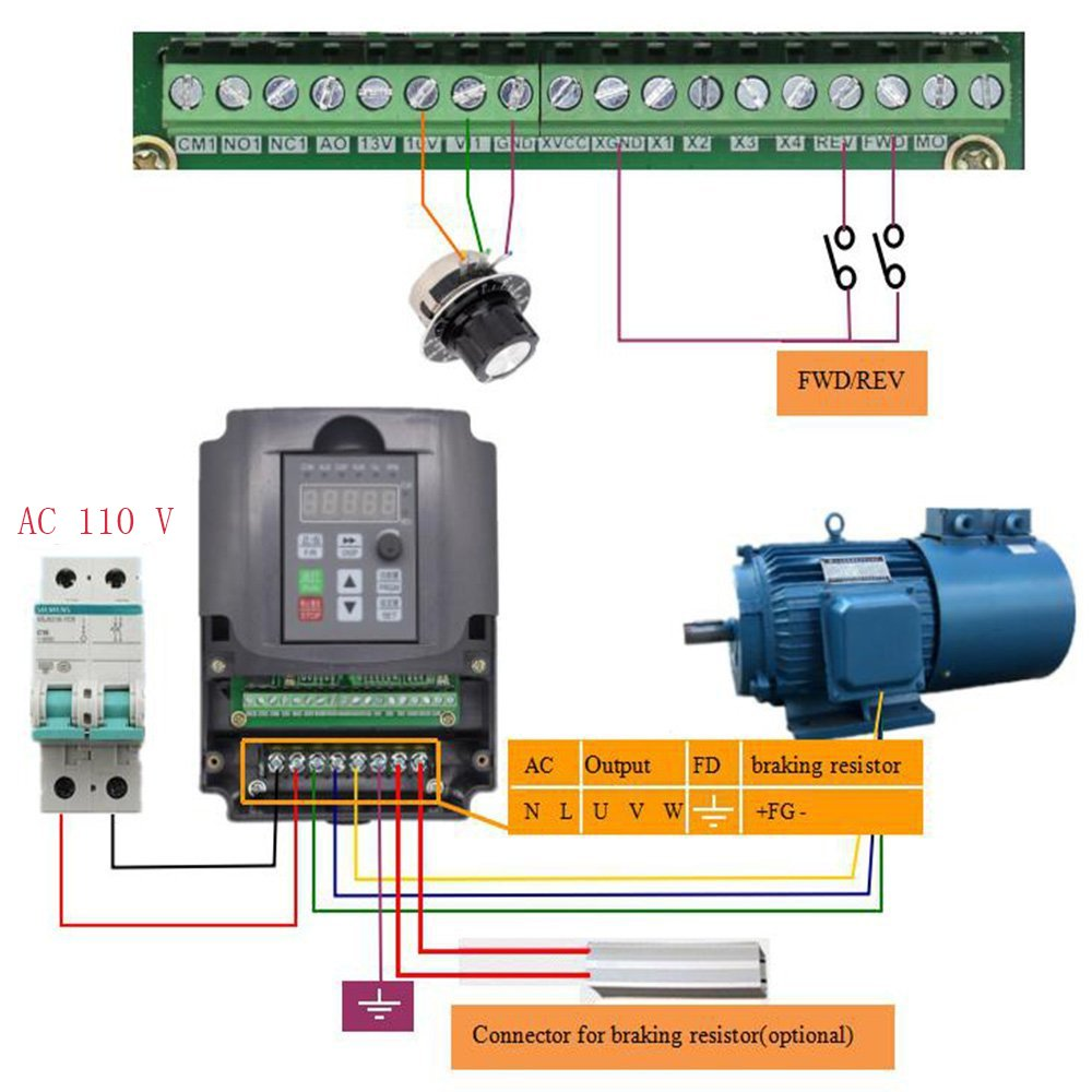 Variable Frequency Drive Cnc 110v 22kw 3hp Vfd Spindle Single Phase Circuit Diagram Inverter Professional For Motor Speed Control