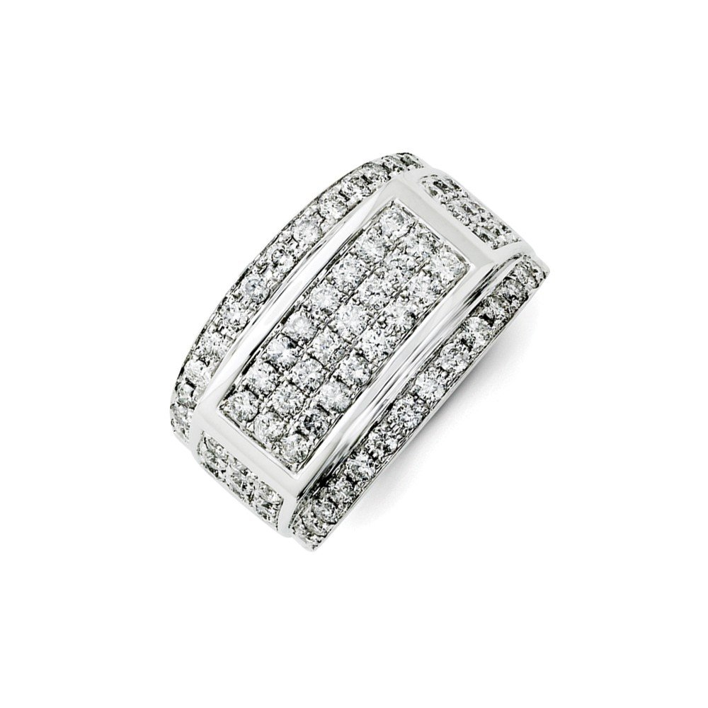 2 CT 14k White Gold Round Diamond Men's Ring with Fancy Undercarriage. 2.056 ctw. by JewelrySuperMart Collection