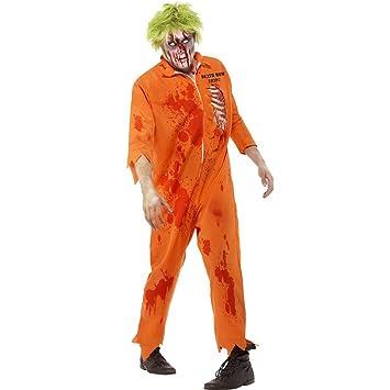 NET TOYS Traje de preso Zombie Vestuario Disfraz psicópata ...