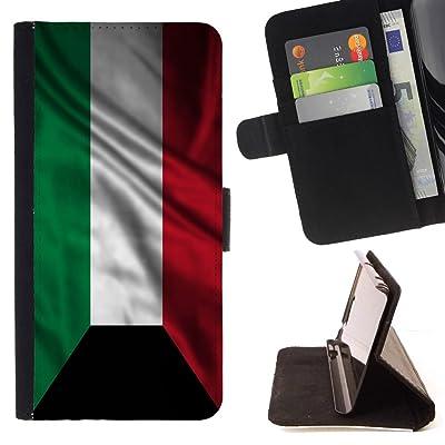 FJCases Kuwait Kuwaití Bandera Ondeante Carcasa Funda Billetera con Ranuras para Tarjetas y Soporte Plegable para Sony Xperia XZ Premium