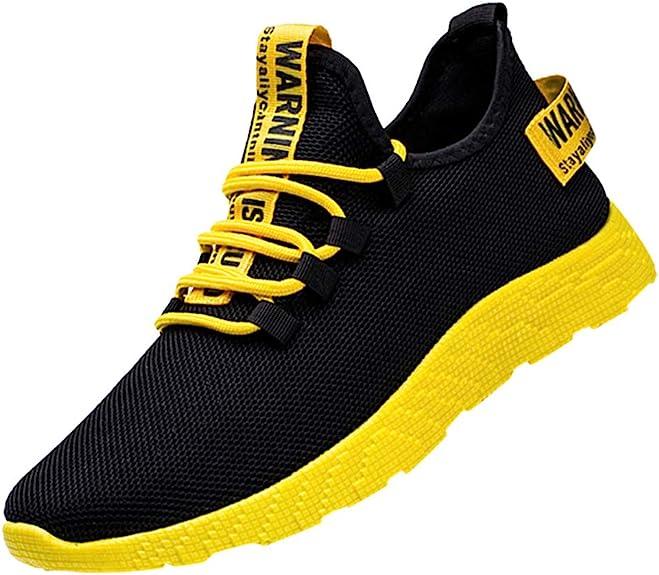 LANSKIRT Zapatillas Deporte Hombres Volando Tejer Zapatos para Correr, Zapatos Turísticos Zapatos Deportivos de Ocio Ligeros,39-44: Amazon.es: Zapatos y complementos