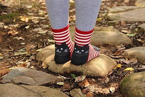 Details about  /Women Cotton Ankle Socks Sock Cartoon Cat Dog Striped Partten Color Casual Sock