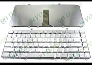 Generic New US Notebook Laptop Keyboard Replacement for Dell Inspiron 1420 1425 1520 1521 1525 1526 1540 1545, Vostro 1400 1500 XPS M1330 M1530 Silver | DP/N: NK750 0NK750 0MU194 NSK-D9001 0MU203