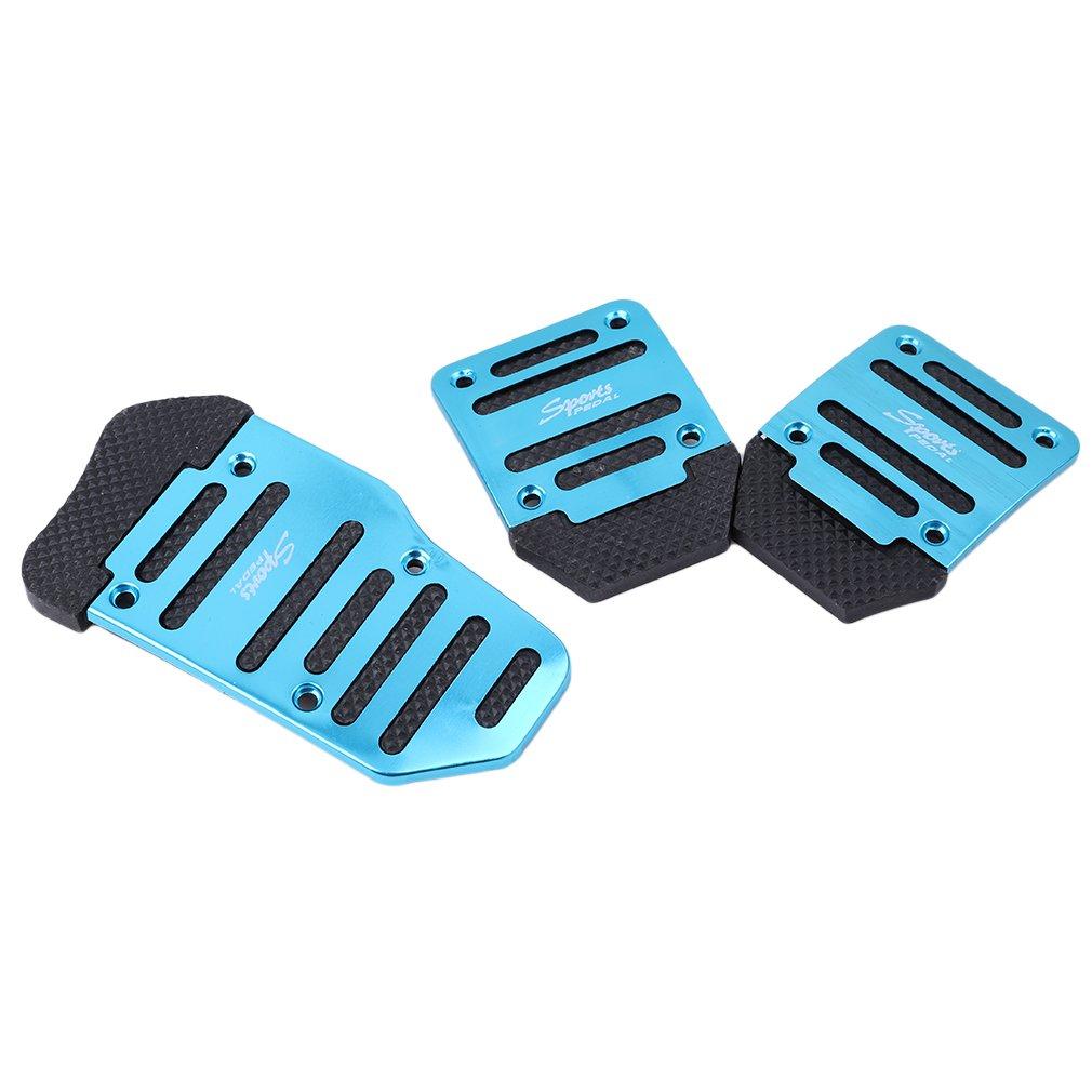 Blue Yinew Manual Car Auto New Fashion Non Slip Sports Aluminium Alloy Automatic Car Auto Vehicle Pedal Foot Treadle Foot Brake Cover Pad