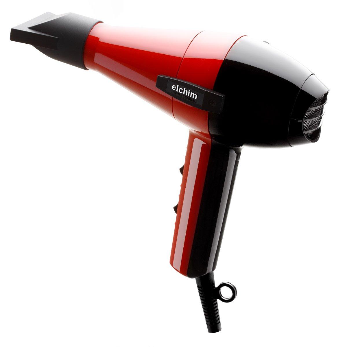 Elchim 2001 - Secador de pelo, 2000 W, color rojo y negro: Amazon.es: Belleza