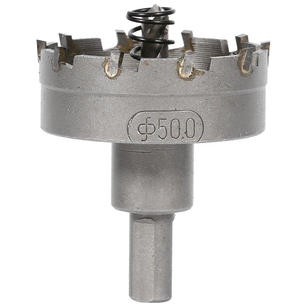 50mm//2.0 inch Durable aleaci/ón de carburo cortador agujero sierra dientes afilador de punta broca Piercing punta herramienta de aleaci/ón de metal Sharp Edge de alta resistencia