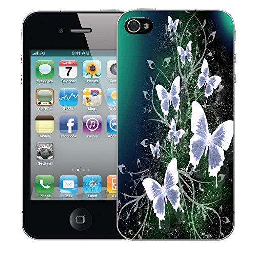 Mobile Case Mate iPhone 5 Silicone Coque couverture case cover Pare-chocs + STYLET - Ultra Butterfly pattern (SILICON)