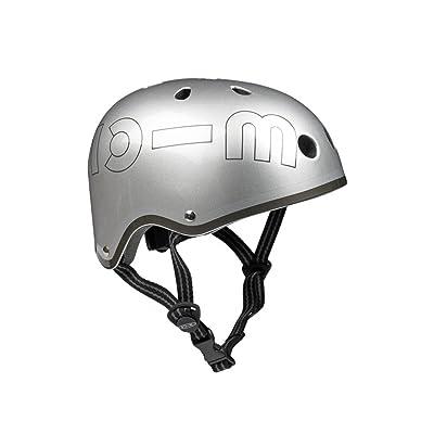 Silver Metallic Micro Helmet - Medium (53-57cm): Toys & Games