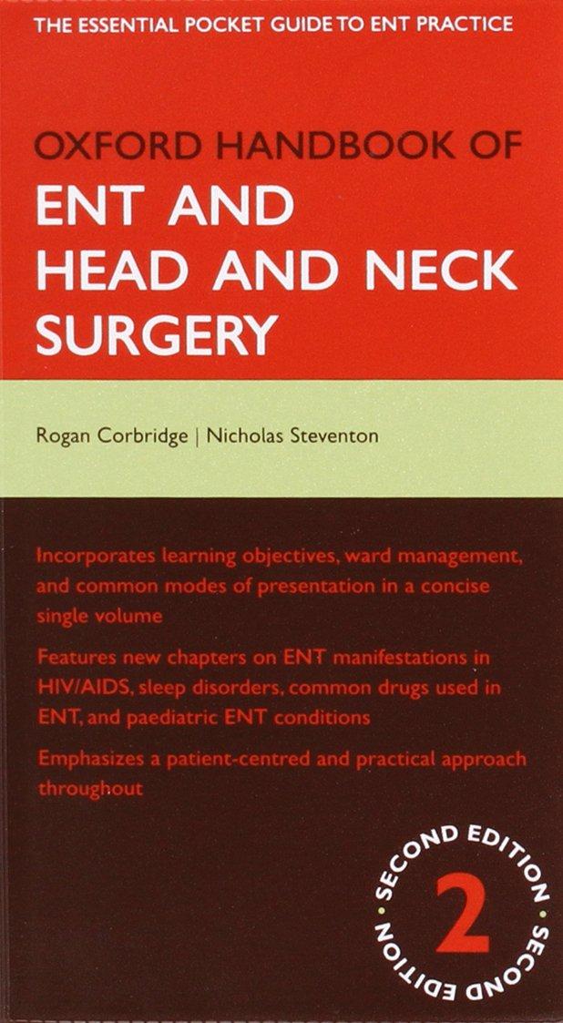 Kết quả hình ảnh cho Oxford Handbook of ENT and Head and Neck Surgery
