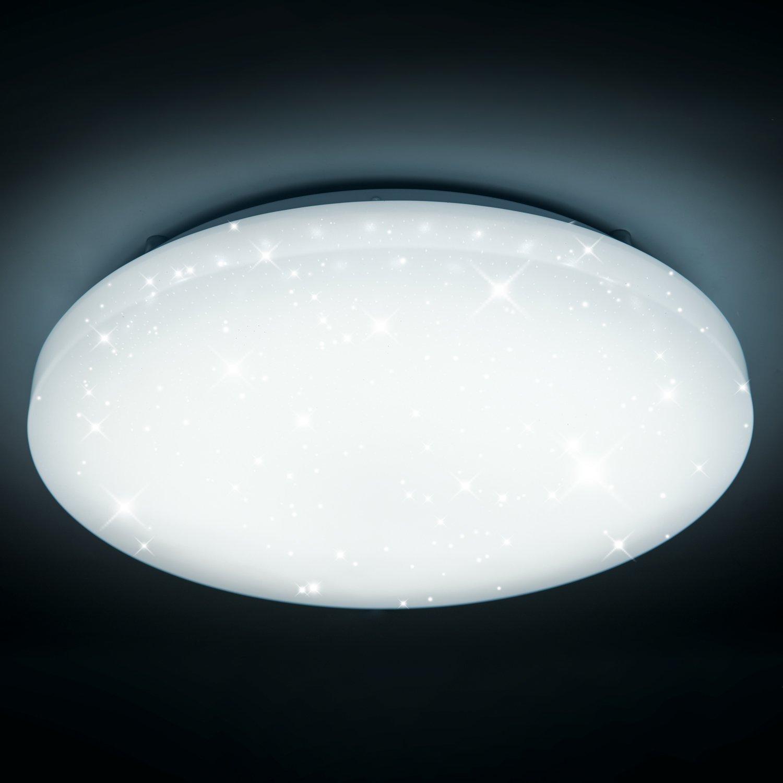 50W LED Wand-Deckenleuchte Weiß rund Deckenlampe Starlight Effekt Modern Schlafzimmer Kinderzimmer Dekor