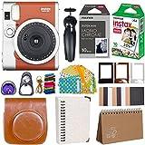 Fujifilm Instax Mini 90 Instant Camera + Fuji Instax Film (20 Sheets) + Giant Accessories Bundle(12 piece) (Brown)