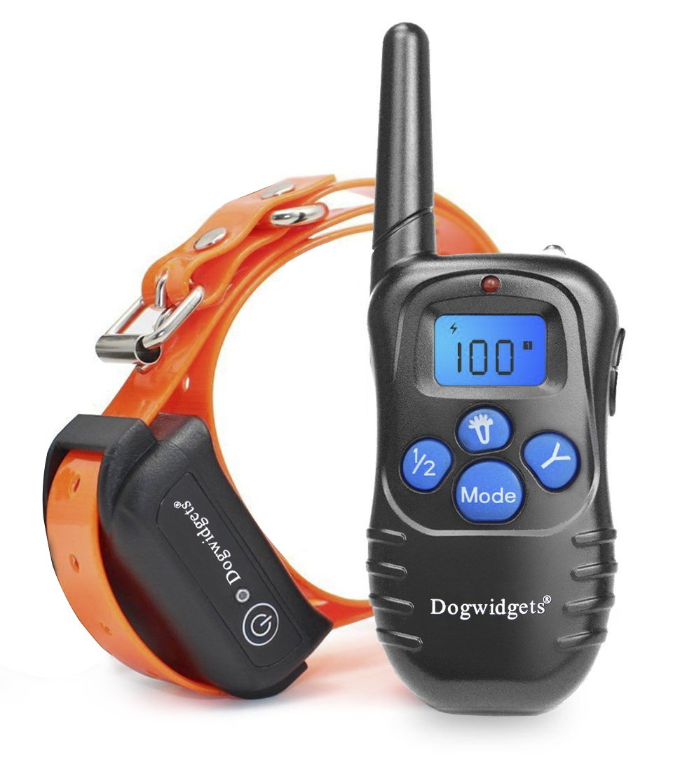 Dogwidgets DW-18 Dog Training Collar With Remote 100 Levels Of Shock Vibration Warning Sound Beep Rechargeable Waterproof 330 Yards Pet Trainer by Dogwidgets