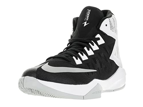 3d3936f3a33 Nike Men s Zoom Devotion Black Metallic Silver White Basketball Shoe 8. 5  Men