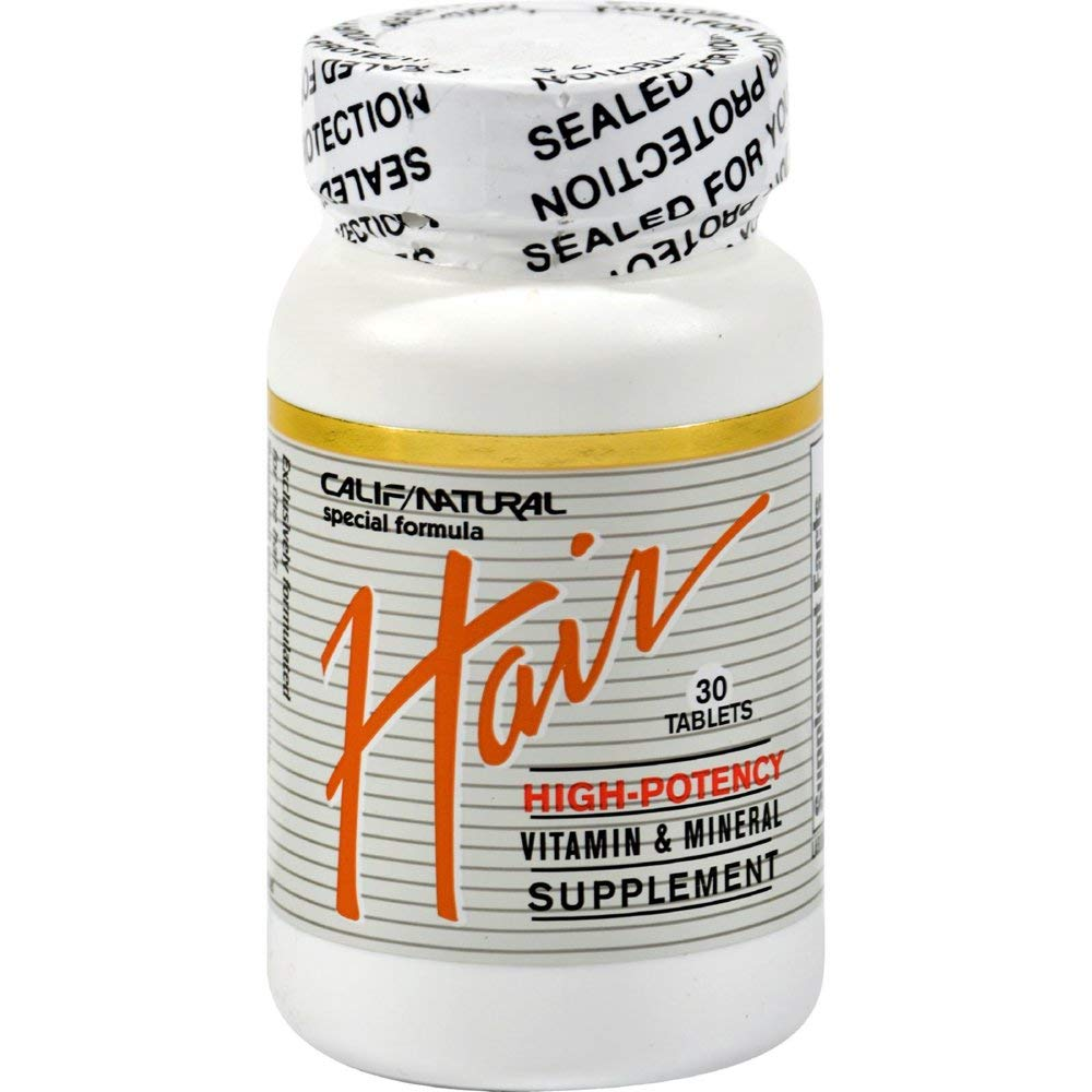 California Natural Hair Vitamin Mineral, 30 tab 6 Pack