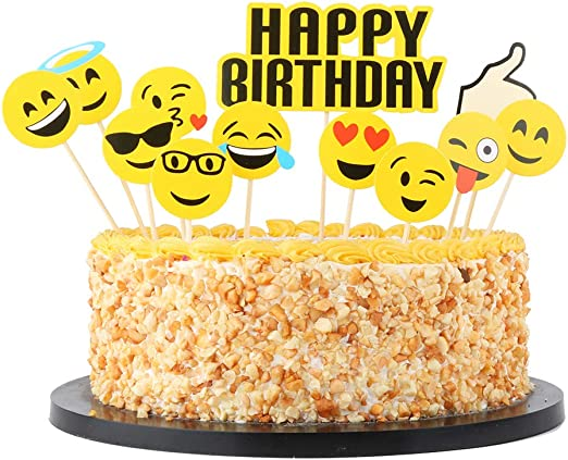Excellent Amazon Com Qiynao Happy Birthday Cake Topper Set Party Cake Funny Birthday Cards Online Amentibdeldamsfinfo