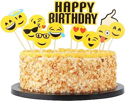 Strange Qiynao Happy Birthday Cake Topper Set Party Cake Decoration Funny Birthday Cards Online Ioscodamsfinfo