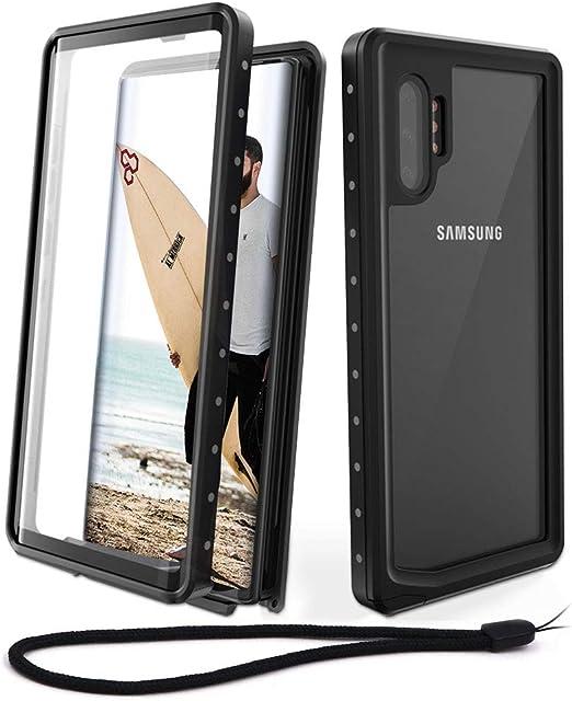 Jonwelsy Funda para Samsung Galaxy Note 10 Plus Aleaci/ón de Aluminio Cover con Rotaci/ón de 360 Grados Anillo iman Kickstand para Samsung Note 10+ Morado Shockproof Flexible Silicona Carcasa