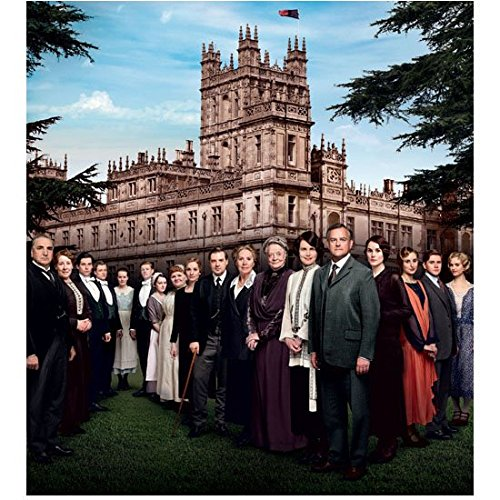 (Downton Abbey (TV Series 2010 - 2015) 8 Inch x 10 Inch Photo Cast in Front of Estate Trees Framing Pic)