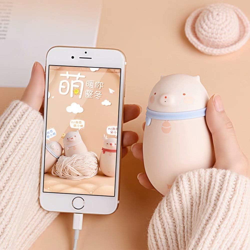 NZBⓇ Cartoon Hand Warmers Rechargeable-USB Portable Electric Hand Heater -Sided Heating Pocket Hand Warmer, Winter Gift for Women & Men with Gift Box Hirsch-geschenkbox