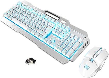 UrChoiceLtd Ensemble clavier souris sans fil rechargeable
