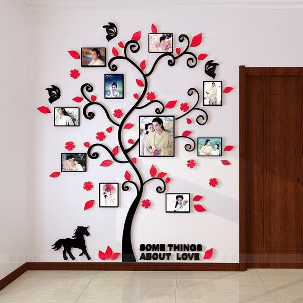 Alicemall 3D Wandaufkleber Stereo Wandaufkleber Abnehmbare Wohnzimmer Schlafzimmer Kinderzimmer Sofa Möbel Hintergrund Sticker Wandtattoo (Schwarz Baum) B073W875W1 Wandsticker & Wandfiguren