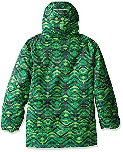 bright Columbia 'twist Blue Print Jacket Mamba Green Hyper Waterproof Pizzo Boy xCC51rqY