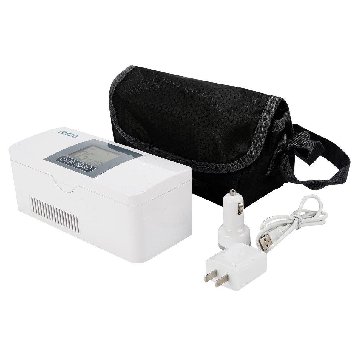 TC-Home Portable Travel Medicine Freezer Mini Fridge Case Diabetic Insulin Cooler Box Car Refrigerator 2-8 ℃