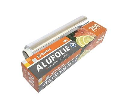 Badis Papel de Aluminio para el Hogar, Hostelería, 200 m x 45 cm