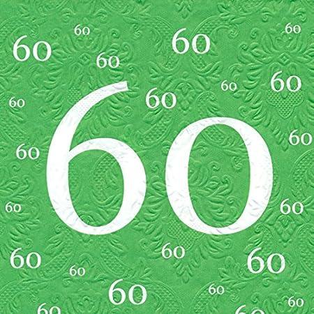 Servilletas con diseño de 60 cumpleaños con diseño de 20 pcs ...