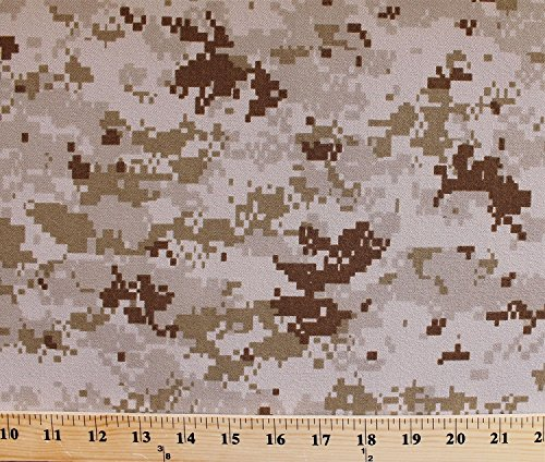 United States Marine Corps Digital Camouflage Desert Sand Brushed Heavy Twill Fabric by the Yard (8318S-2M)