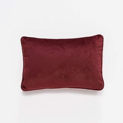 Sancarlos ALMA -Cojín tacto Terciopelo, 100% Poliéster, Color Rojo, Tamaño 60x40 cm