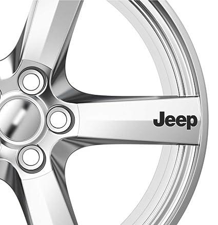 6 x Adhesivos decorativos de ruedas de aleación de Jeep adhesivos gráficos de Premium calidad