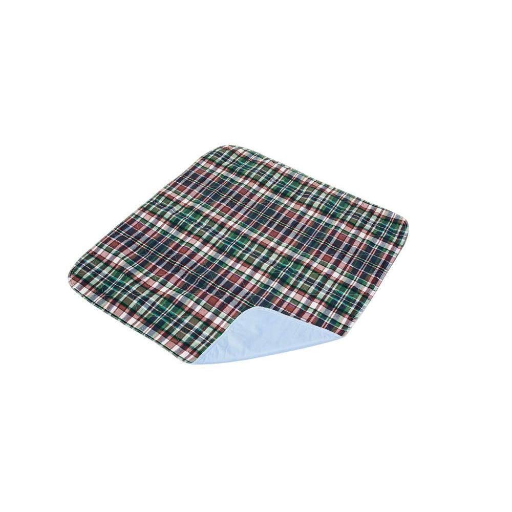 Essential Medical Supply Quik-Sorb Reusable Underpad 34''x36'' Plaid - 1 ea, Pack of 3