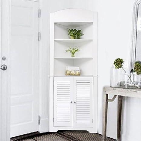Life Carver®, armadietto ad angolo, alto e bianco, per soggiorno ...